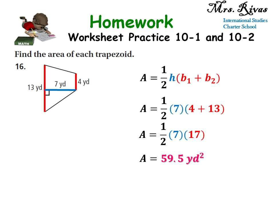 Worksheet Practice 10-1 and 10-2 Mrs. Rivas International Studies Charter School