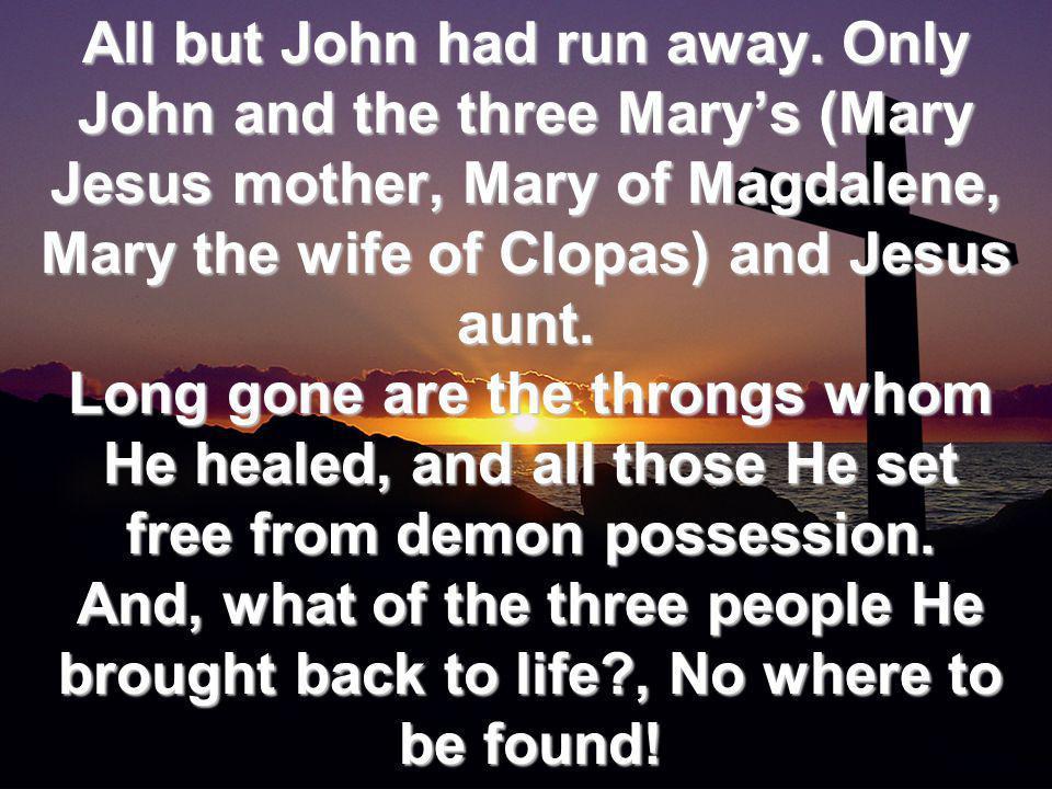 All but John had run away.