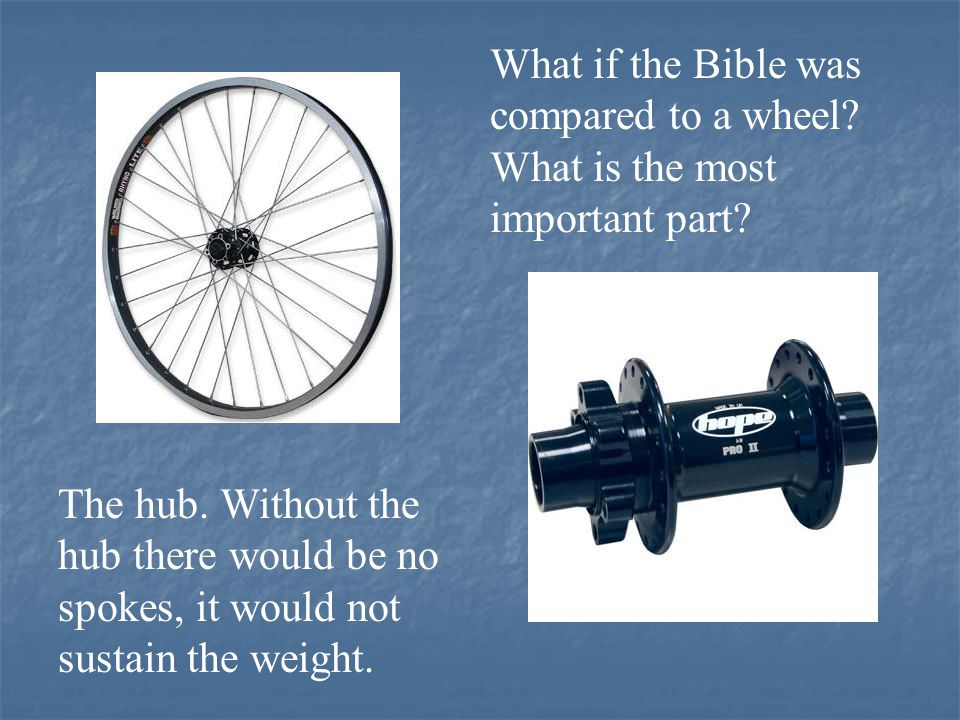 If Bible prophecy is like the wheel, what would be the hub of the wheel.
