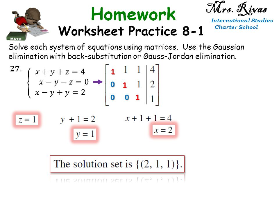 Collection of Solving Systems Using Matrices Worksheet Sharebrowse – Solving Systems Using Elimination Worksheet