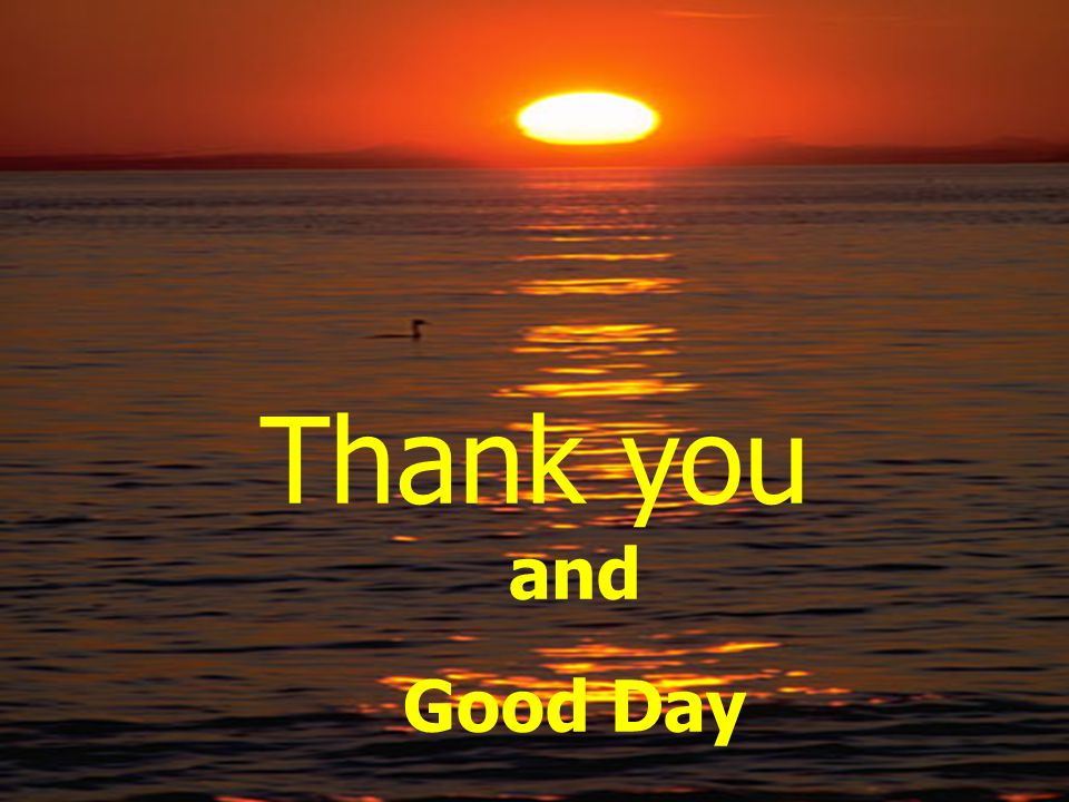 Thank you and Good Day