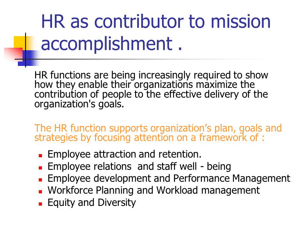 HR's Role in developing effective international NGO.