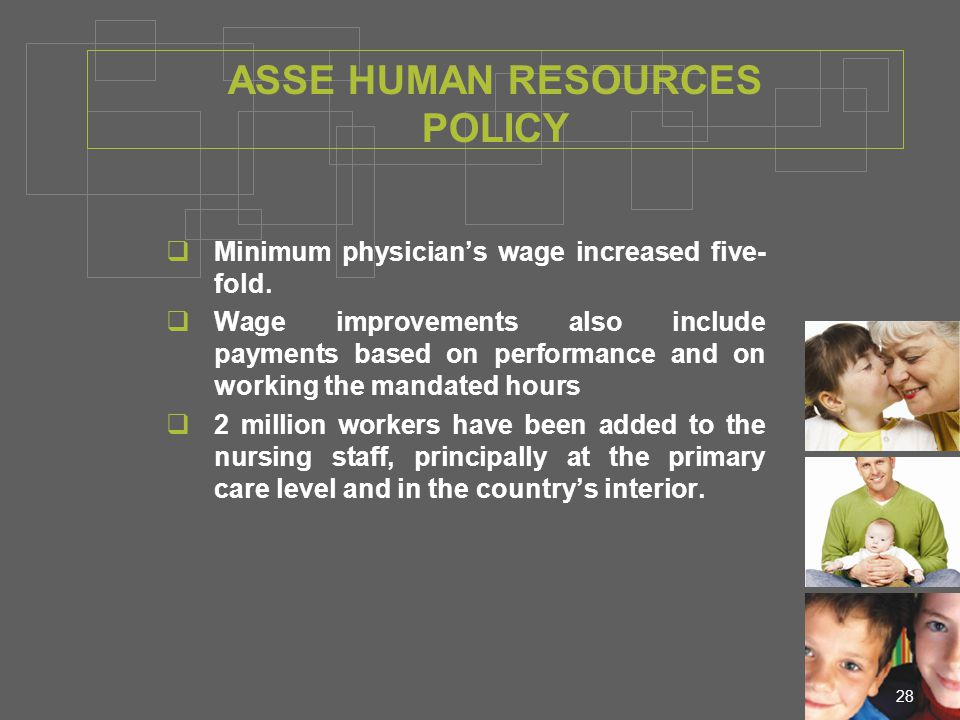 28  Minimum physician's wage increased five- fold.
