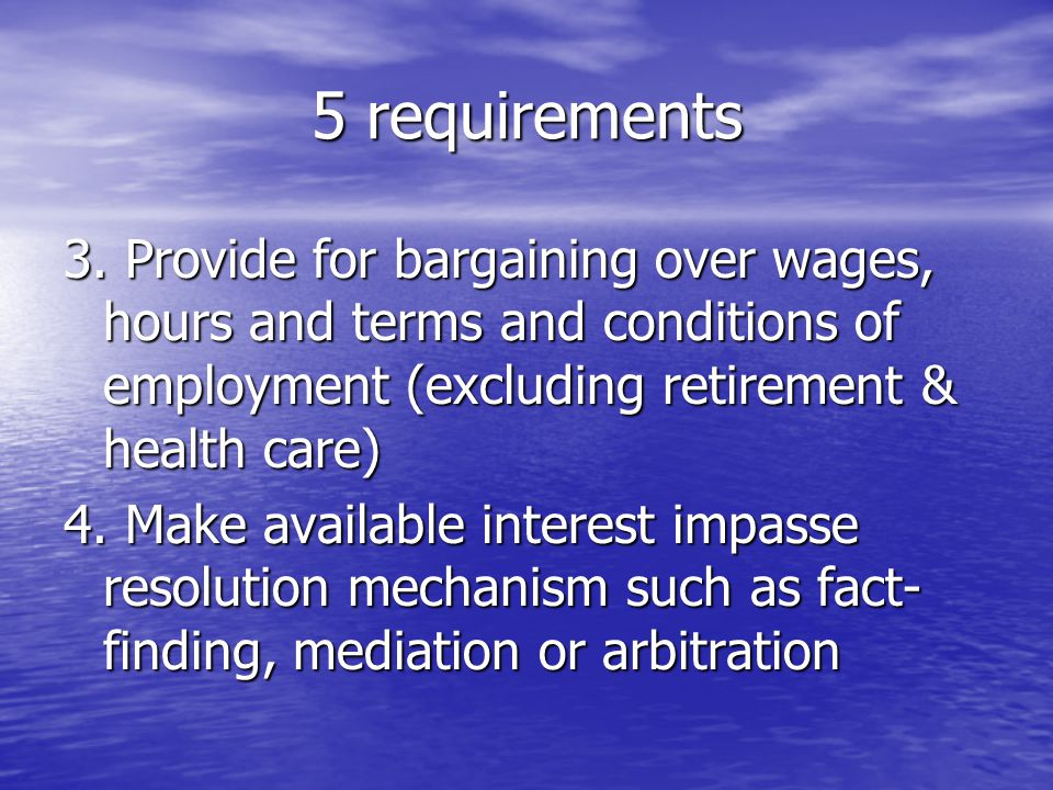 5 requirements 3.