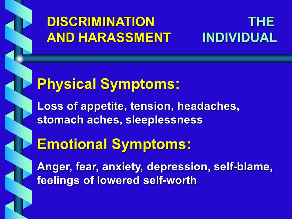 CORRECTING DISCRIMINATION AND HARASSMENT