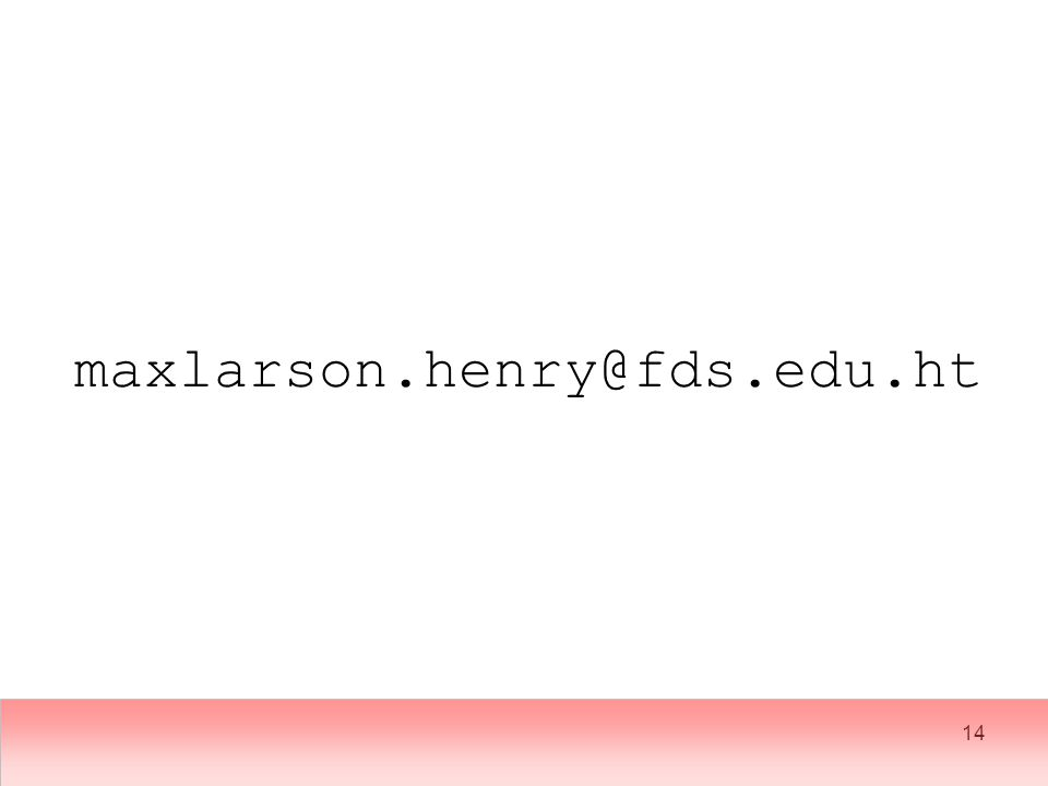 14 maxlarson.henry@fds.edu.ht