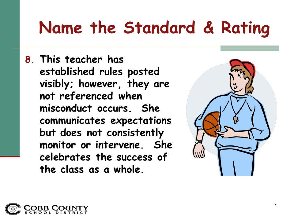 20 Standards-based Instruction Standard Rating: Emerging #7