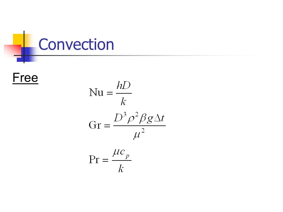 Convection Free