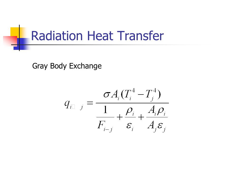 Radiation Heat Transfer Gray Body Exchange