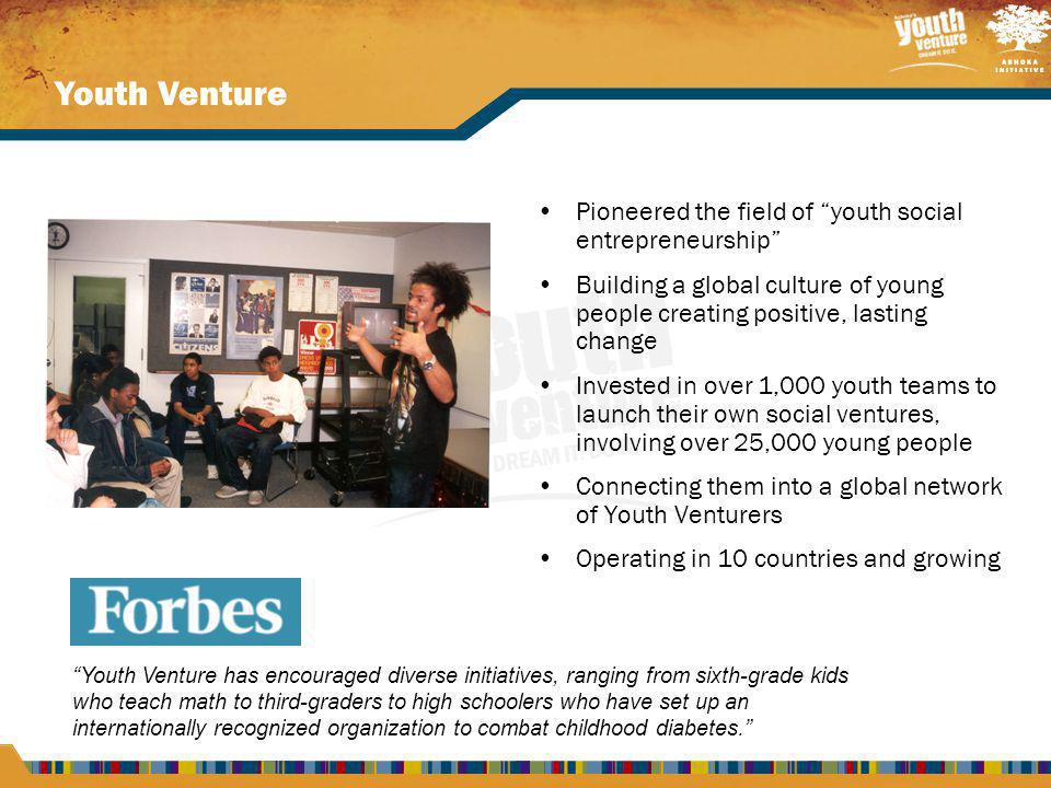 Join Youth Venture.