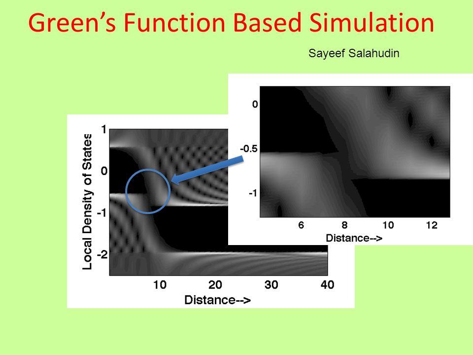 Green's Function Based Simulation Sayeef Salahudin