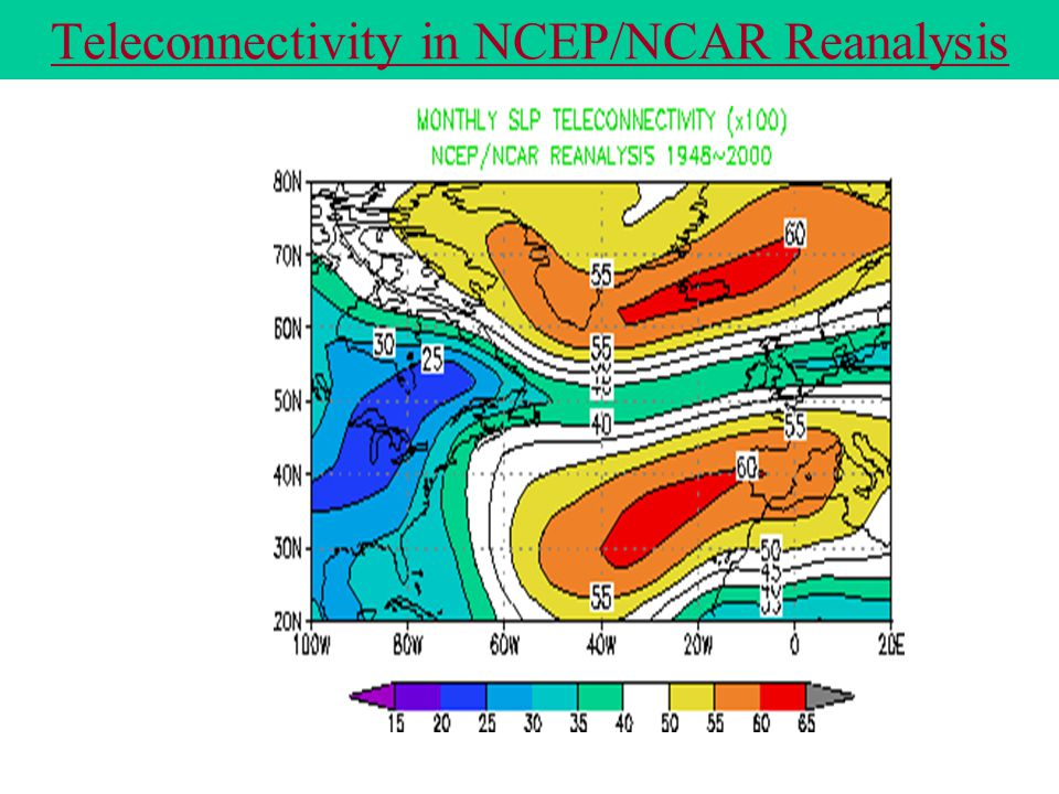 Teleconnectivity in NCEP/NCAR Reanalysis