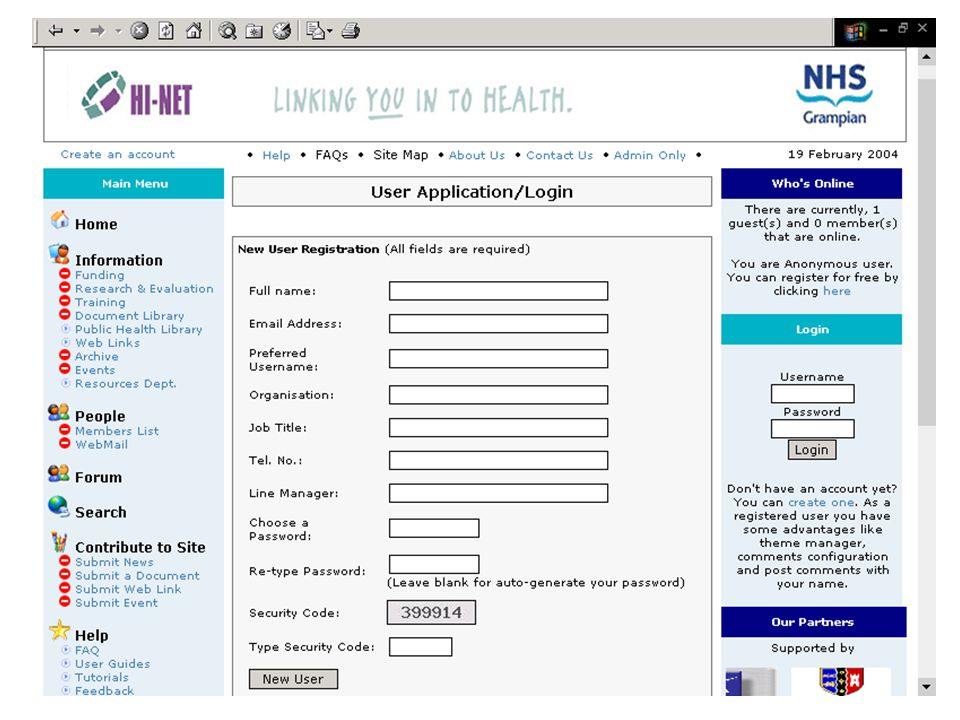 The Future Tailored login, you see what you want to see Email bulletins tailored around your interests On-line tutorials HI-Net is YOUR site, what would YOU like to see on it?