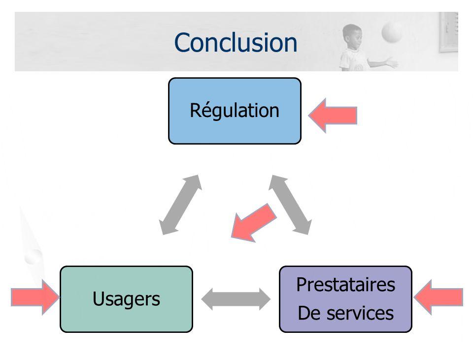 Conclusion Régulation Prestataires De services Usagers