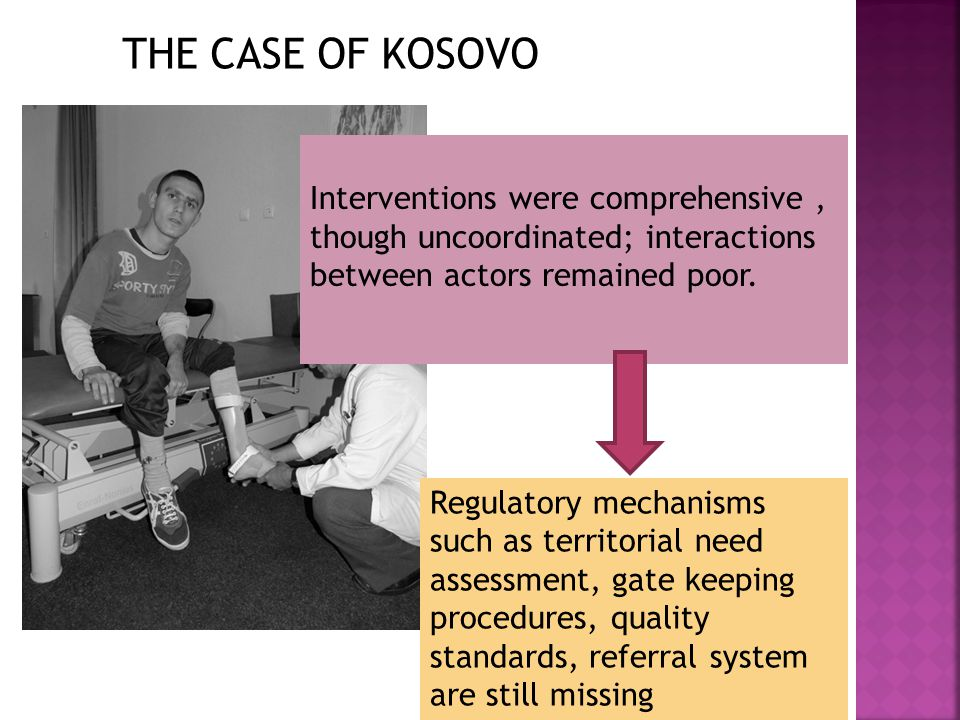 RESSOURCE ALLOCATION: -In Mozambique and Kosovo: high number of expatriate and local staff (from emergency) -In Albania:few expatriate staff; short external technical experts,including regional resources PROJECT DESIGN Project designs were all based on needs assessments, more systematic and comprehensive in Albania, including participation of DPOs; Their participation continued, to a much lesser extent, during the implementation phase