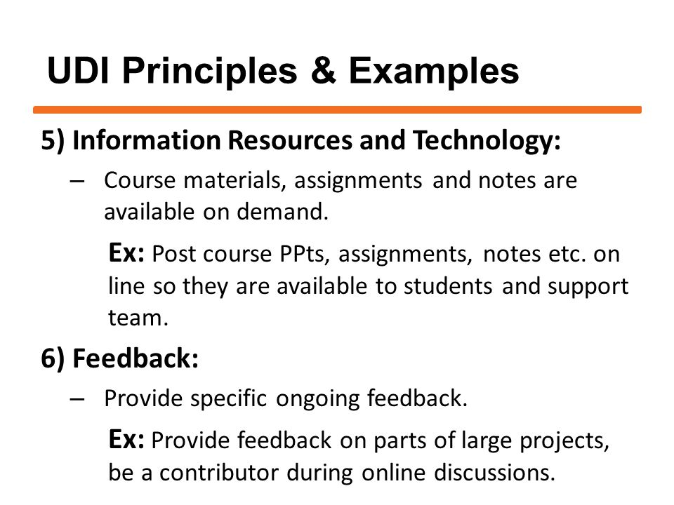 5) Information Resources and Technology: – Course materials, assignments and notes are available on demand.
