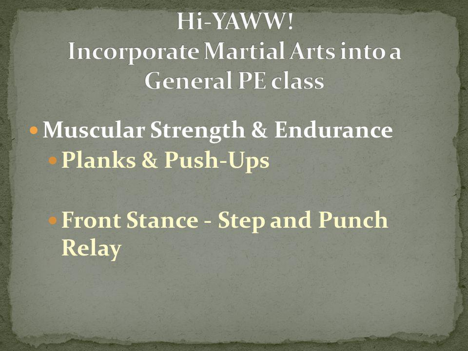 Muscular Strength & Endurance Planks & Push-Ups Front Stance - Step and Punch Relay