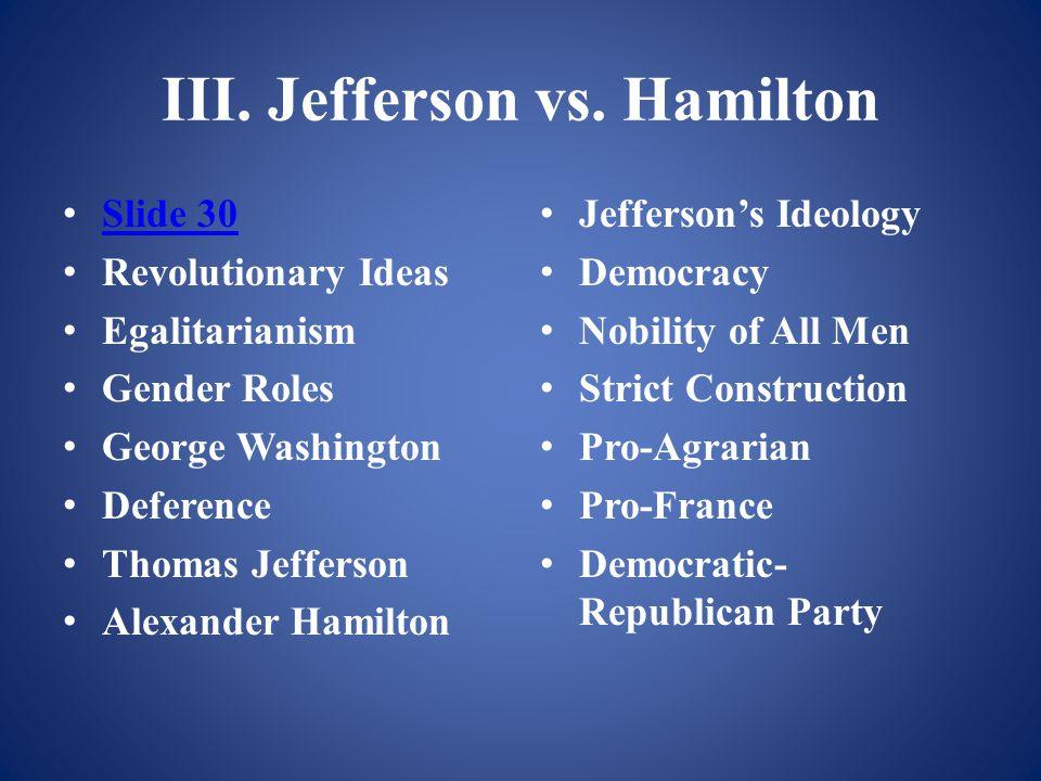 III. Jefferson vs.