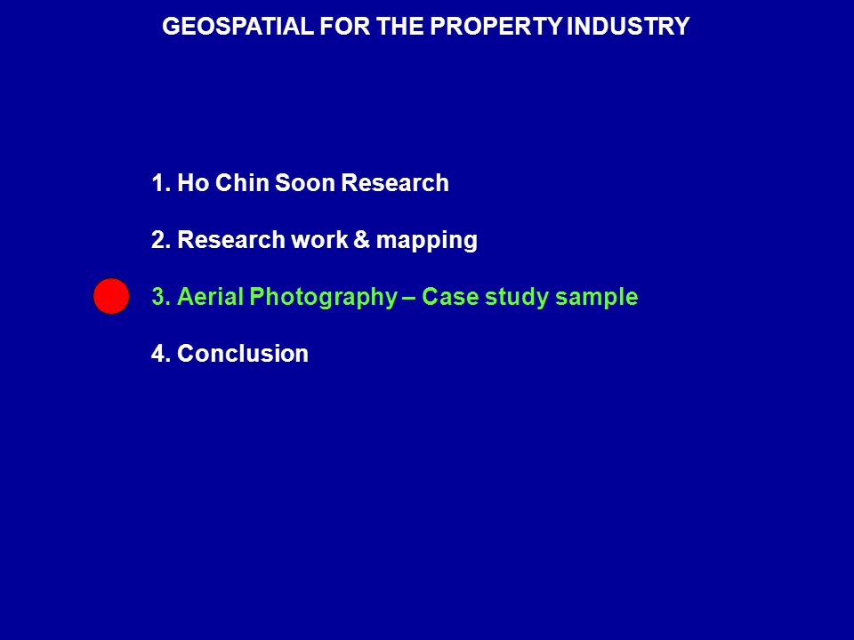 1. Ho Chin Soon Research 2. Research work & mapping 3.