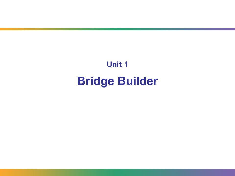 Unit 1 Bridge Builder