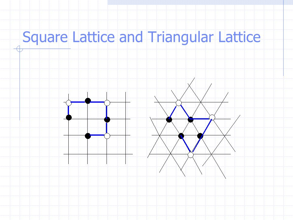 Square Lattice and Triangular Lattice