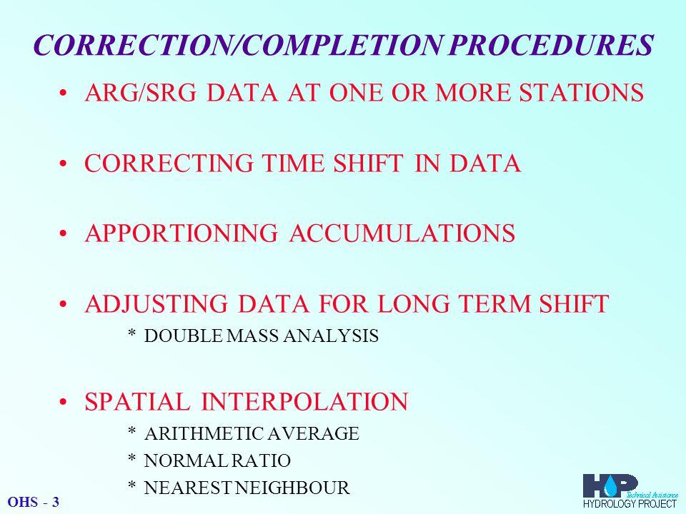 DATA CORRECTION OHS - 14
