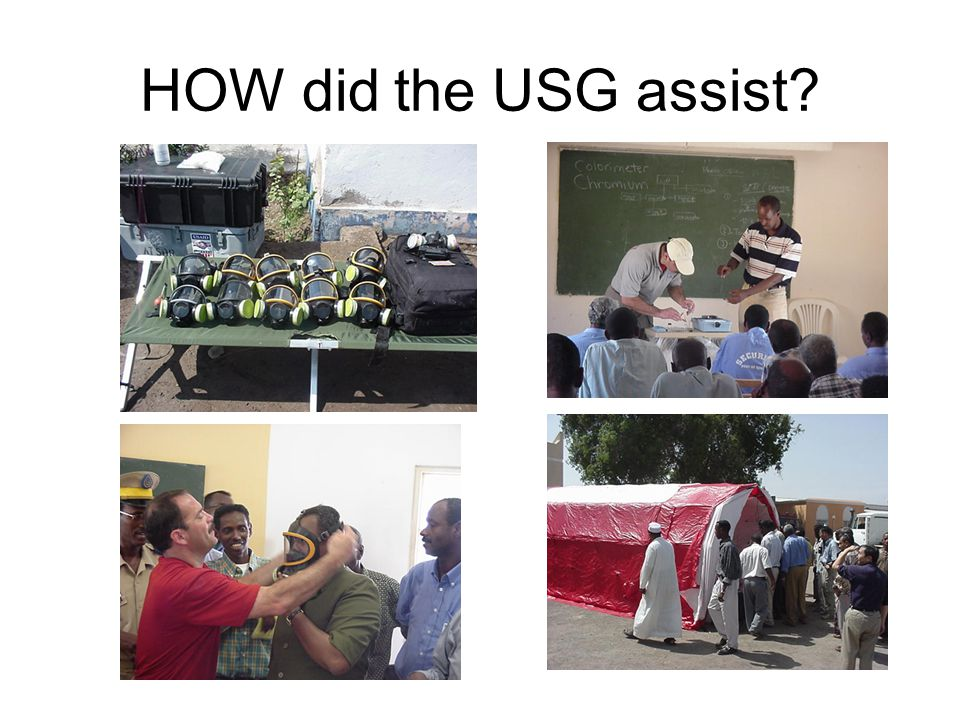HOW did the USG assist?
