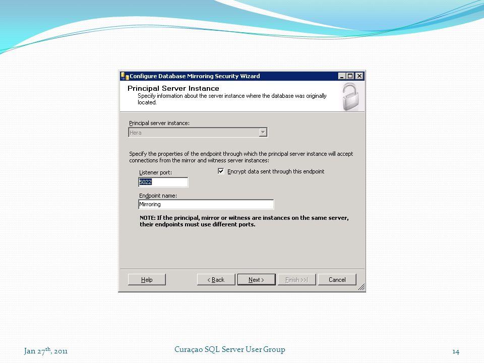 Jan 27 th, 201114 Curaçao SQL Server User Group