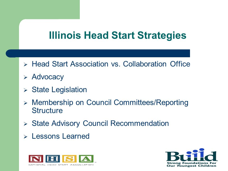 Illinois Head Start Strategies  Head Start Association vs.