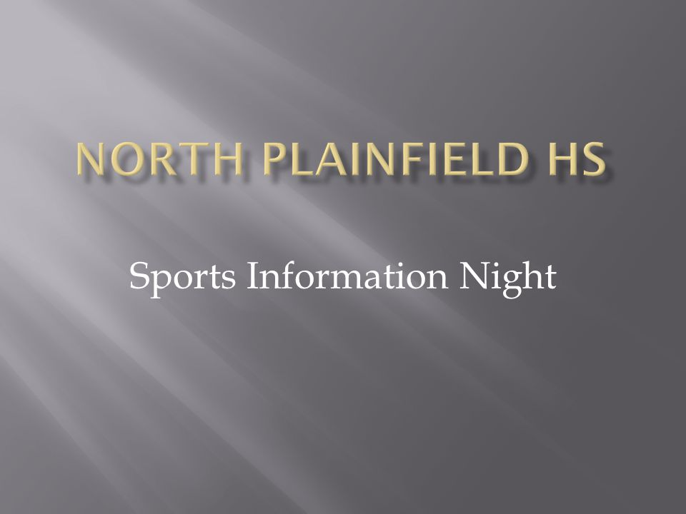 Sports Information Night