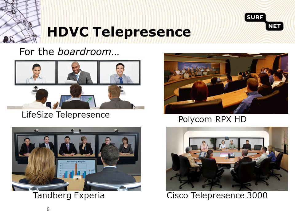 HDVC Telepresence 8 Polycom RPX HD Tandberg ExperiaCisco Telepresence 3000 LifeSize Telepresence For the boardroom…