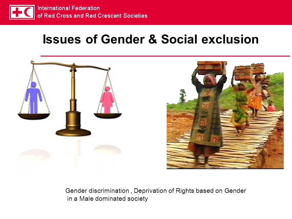 Issues of Gender & Social exclusion Gender discrimination, Deprivation of Rights based on Gender in a Male dominated society