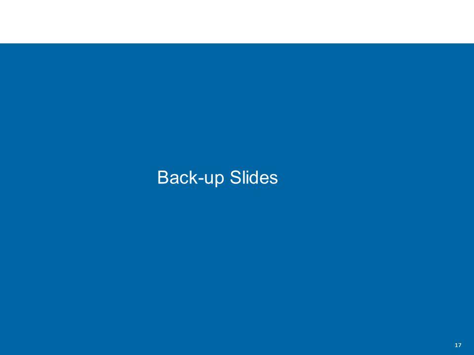 Back-up Slides 17