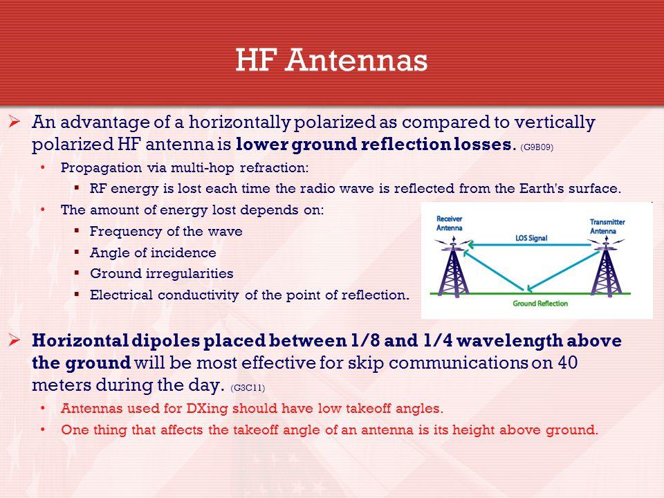 HF Antennas  The approximate maximum theoretical forward gain of a three element, single-band Yagi antenna is 9.7 dBi.