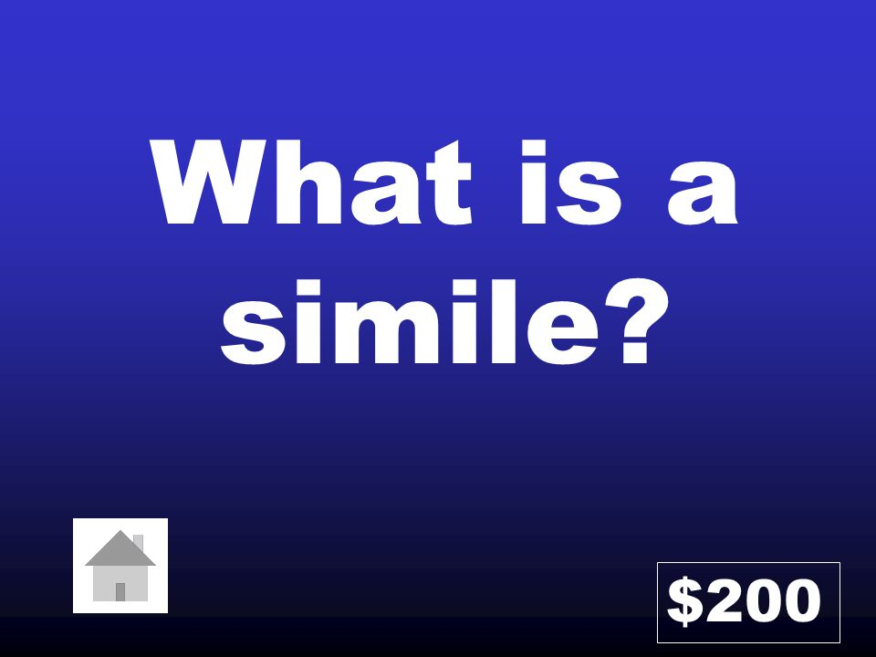 What is a simile? $200