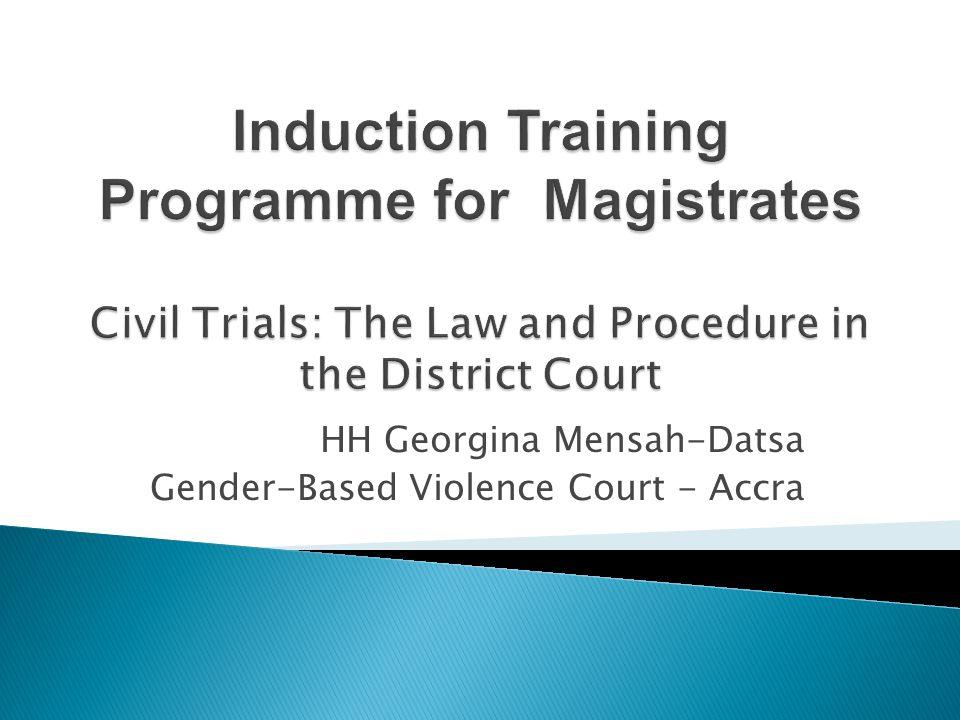 HH Georgina Mensah-Datsa Gender-Based Violence Court - Accra