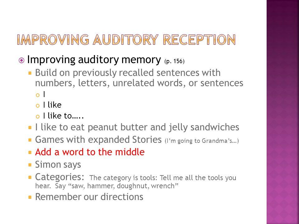  Improving auditory memory (p.