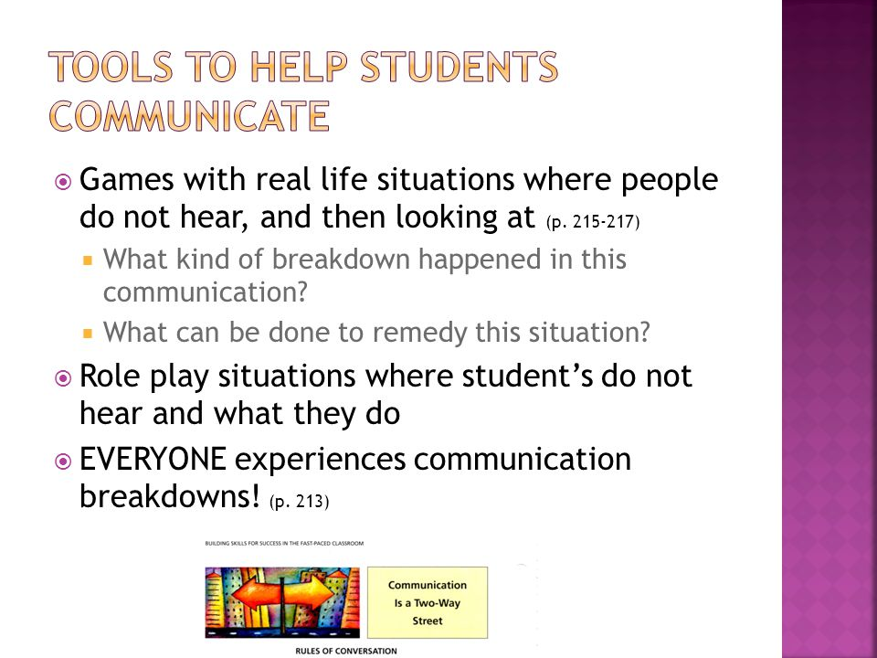  Games with real life situations where people do not hear, and then looking at (p.