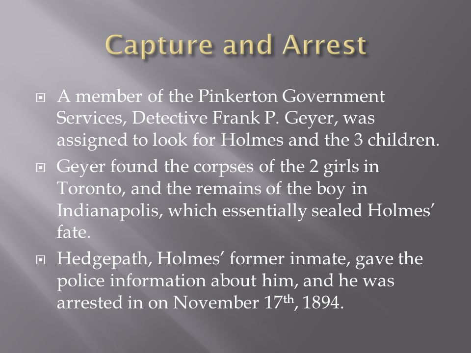  A member of the Pinkerton Government Services, Detective Frank P.