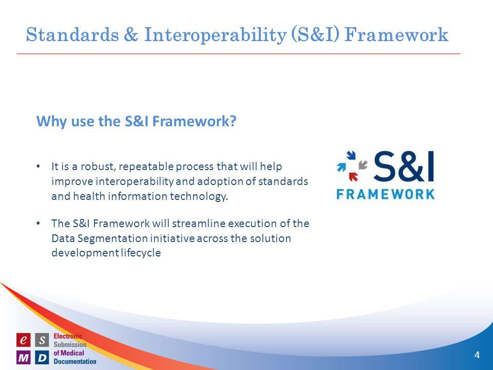 Why use the S&I Framework.
