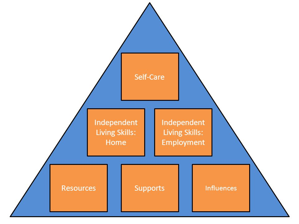 Self-Care ResourcesSupports Influences Independent Living Skills: Home Independent Living Skills: Employment