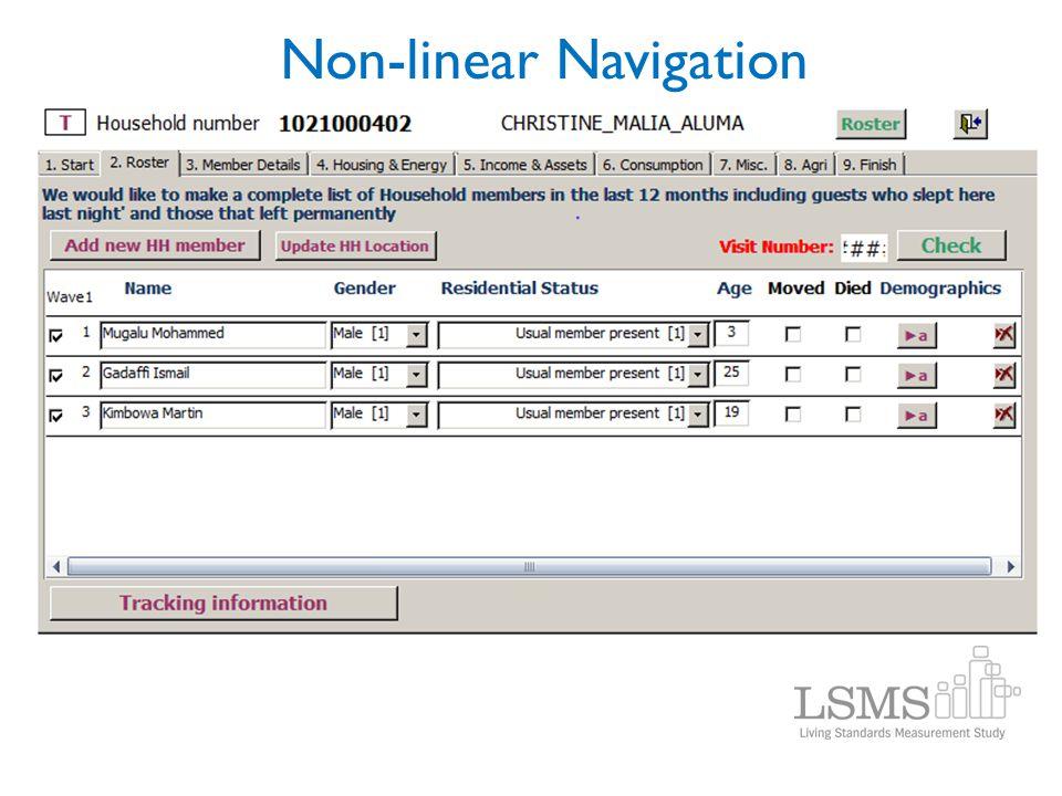 Non-linear Navigation