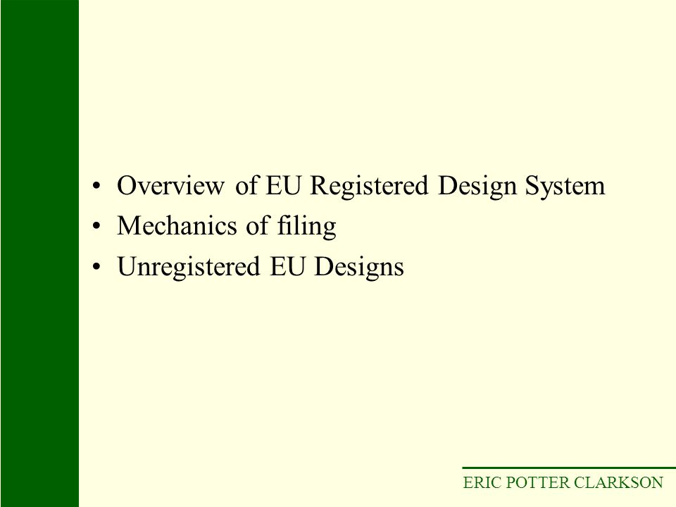 ERIC POTTER CLARKSON Multiple Registration, designs 2332-1 to 5, registered for Cristina Muls Delassue & Cristina Valls-Taverner Muls Published multiple application