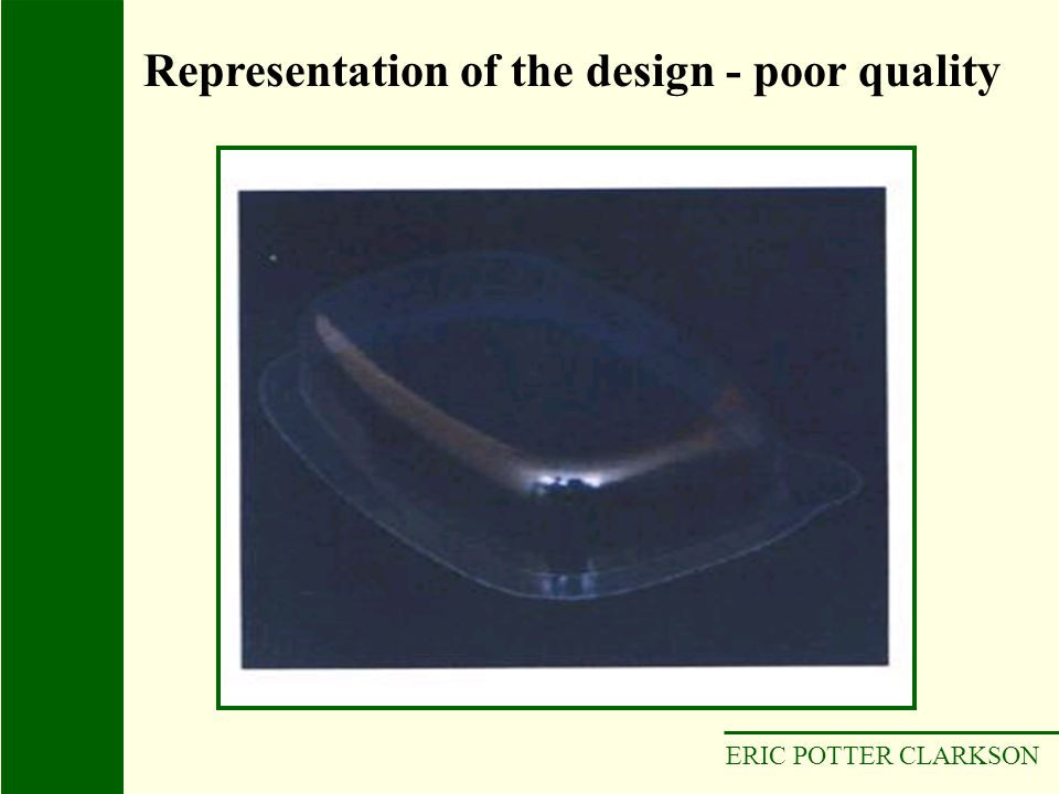 ERIC POTTER CLARKSON Representation of the design - poor quality