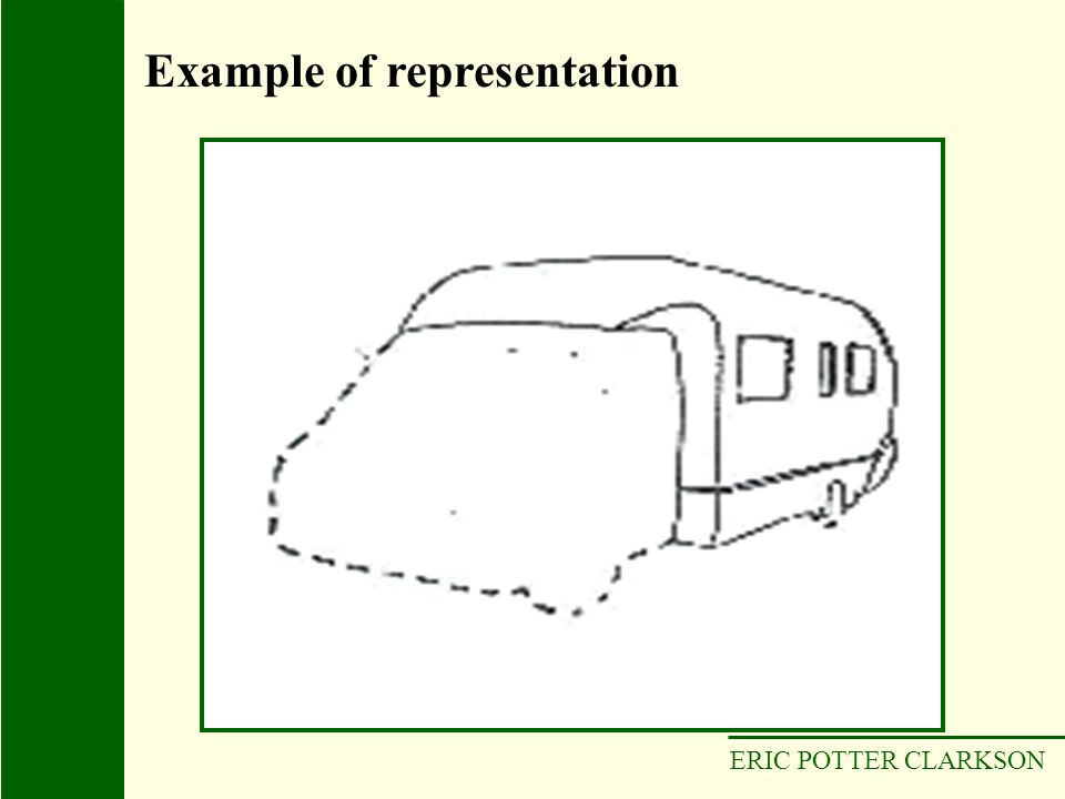 ERIC POTTER CLARKSON Example of representation