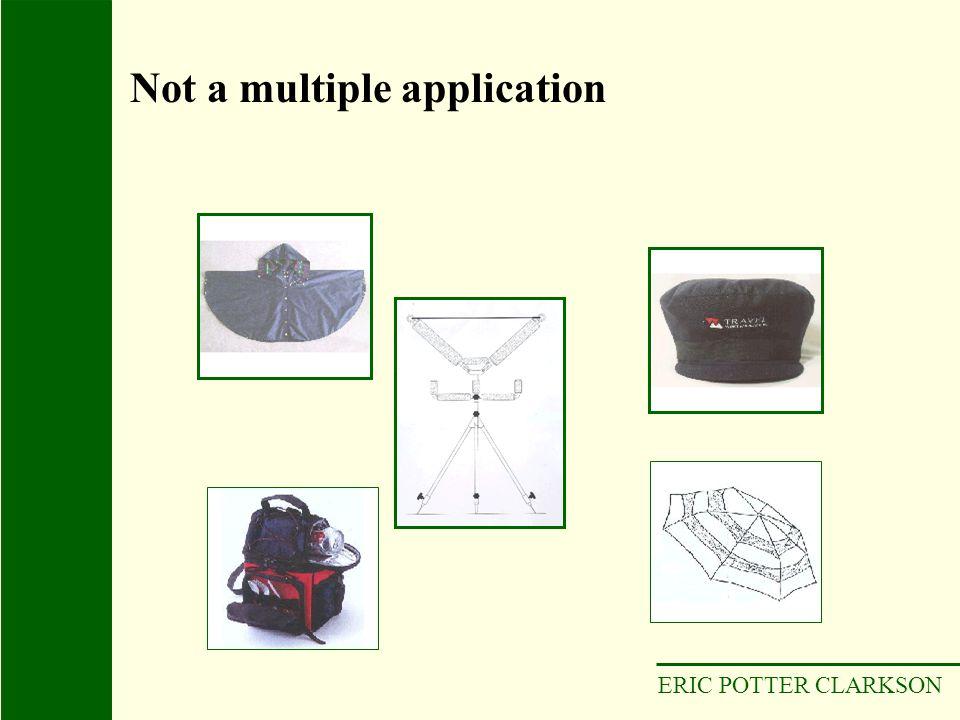 ERIC POTTER CLARKSON Not a multiple application