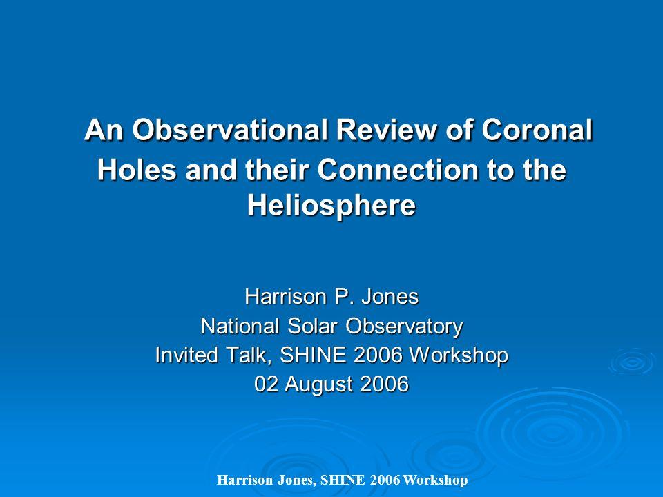 Harrison Jones, SHINE 2006 Workshop