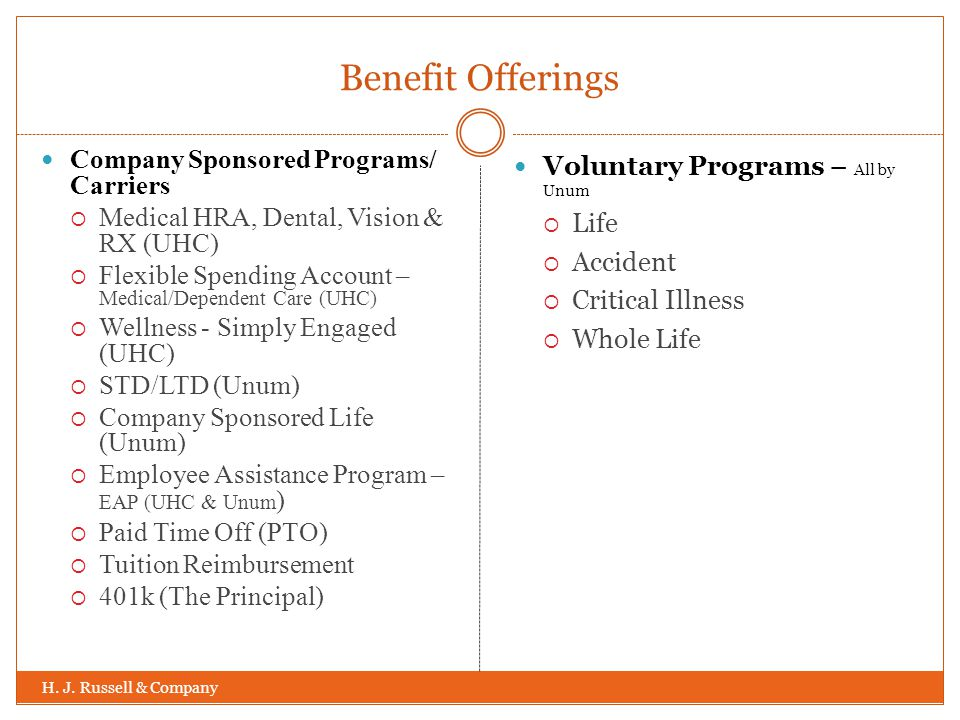Benefit Offerings H. J.