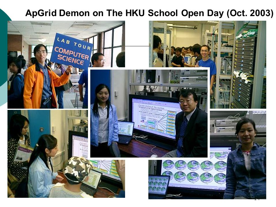 14 ApGrid Demon on The HKU School Open Day (Oct. 2003)