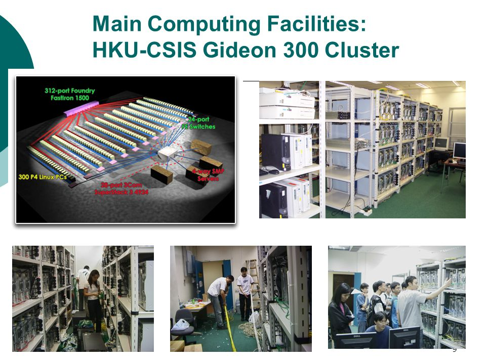 9 Main Computing Facilities: HKU-CSIS Gideon 300 Cluster
